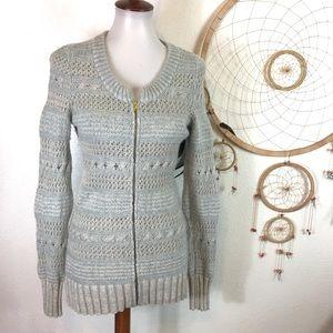 Sleep On Snow Zip Up Rabbit/Wool Blend Sweater